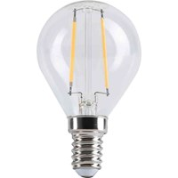 LED-lampa, klot, klar, retro/filament, Gelia