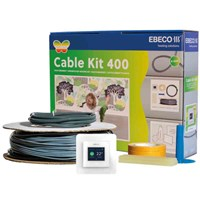 Golvvärme, Ebeco Cable Kit, lös kabel, Cable Kit 400 med termostat EB-Therm 400